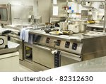 a kitchen in a restaurant | Shutterstock . vector #82312630