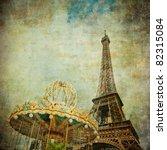 Vintage Image Of Eiffel Tower ...