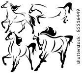raster   running horses... | Shutterstock . vector #82316449