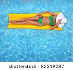 Tanning In A Pool