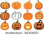 pumpkins   Shutterstock .eps vector #82324027