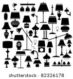 A Set Of Silhouettes Of...