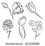 flower art line | Shutterstock .eps vector #82328380