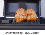 Two Whole Barbecued Chickens O...