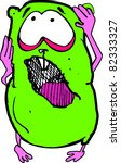 cute mad green hamster | Shutterstock .eps vector #82333327