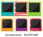 vector photo frame set | Shutterstock .eps vector #82355188