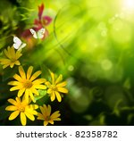 Abstract Summer Background....