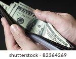 Wallet Full Of Money  Concept...