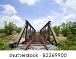railway bridge with blue sky in ... | Shutterstock . vector #82369900