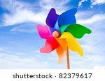Color Pinwheel Against Summer...