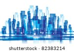city landscape. vector... | Shutterstock .eps vector #82383214