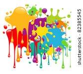 color paint splashes   Shutterstock .eps vector #82385545