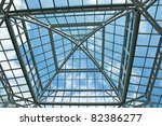 Color Image Of The Glass Roof...
