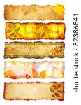 collection of grunge banners...   Shutterstock . vector #82386841