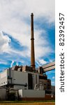 Municipal waste incineration plant in Germany - stock photo