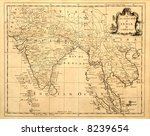 this vintage map of india and... | Shutterstock . vector #8239654