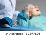 at the dentist  focus on tools  ... | Shutterstock . vector #82397605