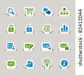 paper cut   website and... | Shutterstock .eps vector #82412044