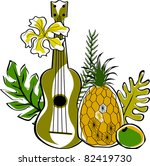 retro tropical beautiful... | Shutterstock .eps vector #82419730