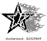 flaming grunge star. | Shutterstock .eps vector #82429849