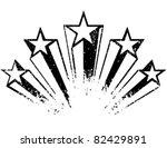 shooting stars. vector... | Shutterstock .eps vector #82429891