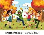 a vector illustration of kids... | Shutterstock .eps vector #82433557