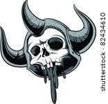 vector skull illustration | Shutterstock .eps vector #82434610