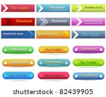 web elements vector button set | Shutterstock .eps vector #82439905