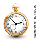 Stock vector old gold watch 82440955