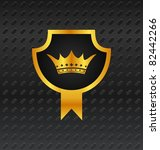 illustration heraldic shield on ... | Shutterstock .eps vector #82442266