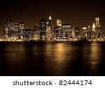 Lower Manhattan In New York...