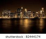 lower manhattan in new york... | Shutterstock . vector #82444174