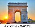 arch of triumph  paris  france   Shutterstock . vector #82449301
