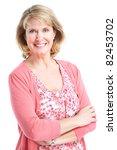 Senior Smiling Healthy Woman....