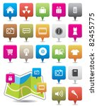colorful map icon | Shutterstock .eps vector #82455775