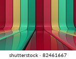 Striped shiny pattern of colors - stock photo