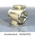 a gold electric motor on a... | Shutterstock . vector #82464553