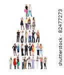 crowd group diversity | Shutterstock . vector #82477273