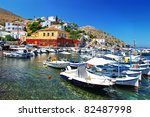 pictorial ports of greek... | Shutterstock . vector #82487998