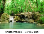 waterfall and blue stream in... | Shutterstock . vector #82489105