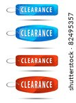 grunge style clearance tags... | Shutterstock .eps vector #82495357