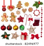christmas decoration collection | Shutterstock . vector #82496977