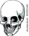 vector skull illustration | Shutterstock .eps vector #82502140