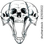 vector skull illustration | Shutterstock .eps vector #82503022