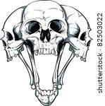 vector skull illustration | Shutterstock .eps vector #82503022