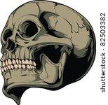 vector skull illustration | Shutterstock .eps vector #82503382