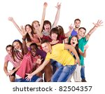 group people  isolated. | Shutterstock . vector #82504357