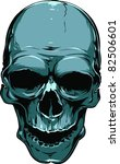vector skull illustration | Shutterstock .eps vector #82506601