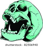 vector skull illustration | Shutterstock .eps vector #82506940