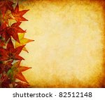 A Margin Of Autumn Leaves On A...